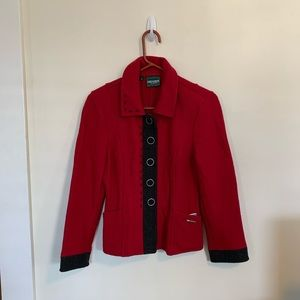 Geiger of Austria Red Boiled Wool Jacket Size 34
